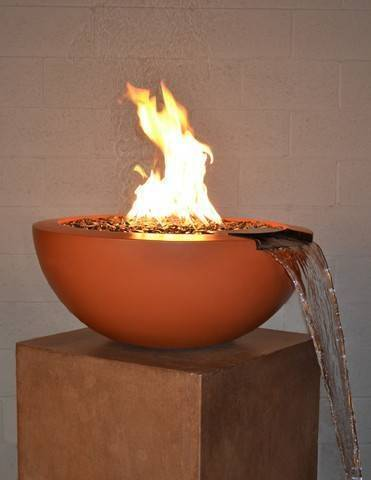 "30"" Luxe Pool Fire Bowl - Deep Amber"