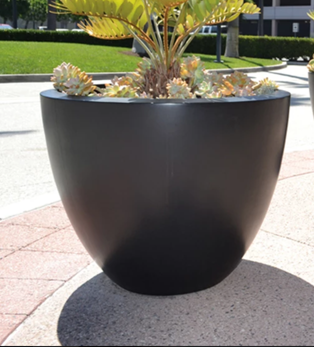 "24"" Luxe Planter Bowl - Dark Walnut"
