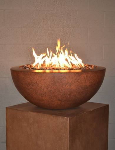"30"" Luxe Fire Bowl - Burnt Terra Cotta"