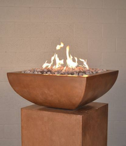 "30"" Luxe Square Fire Bowl - Khaki"