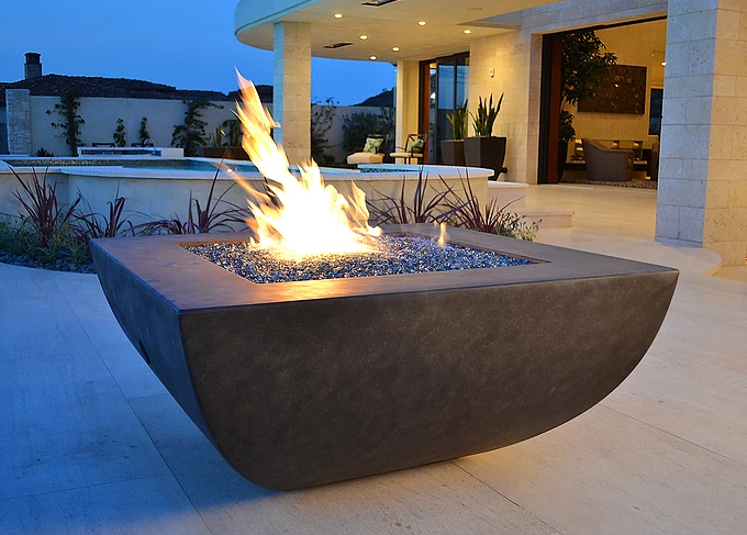 "42"" x 42"" Legacy GFRC Concrete Fire Table -"