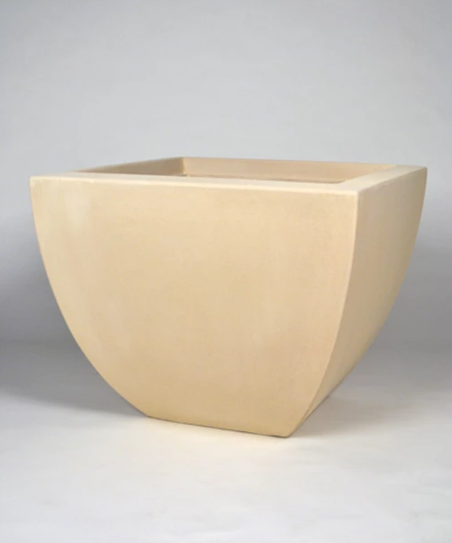 "36"" Grenada Large Square Planter - Autumn Beige"