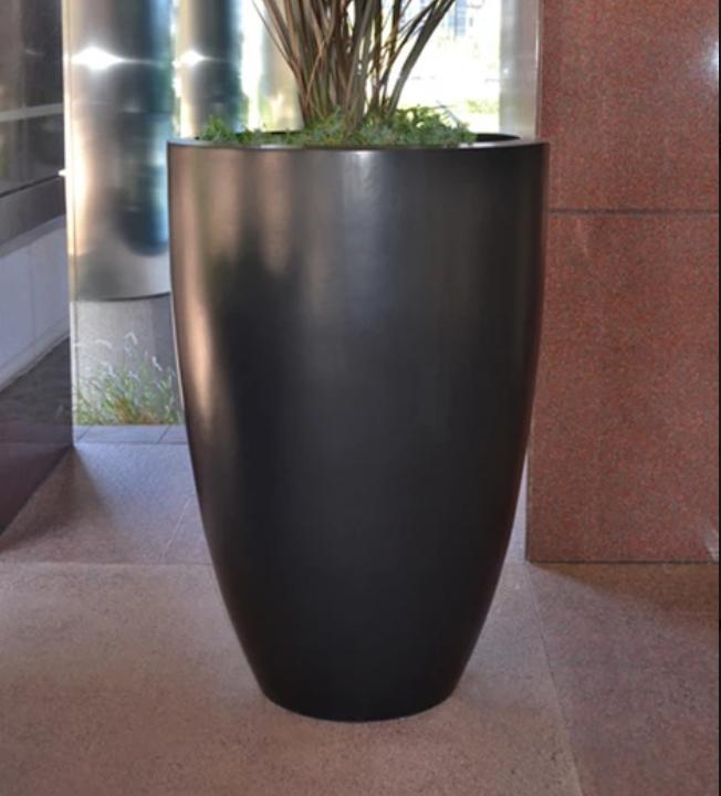 Luxe Tall Planter Bowl - Dark Walnut