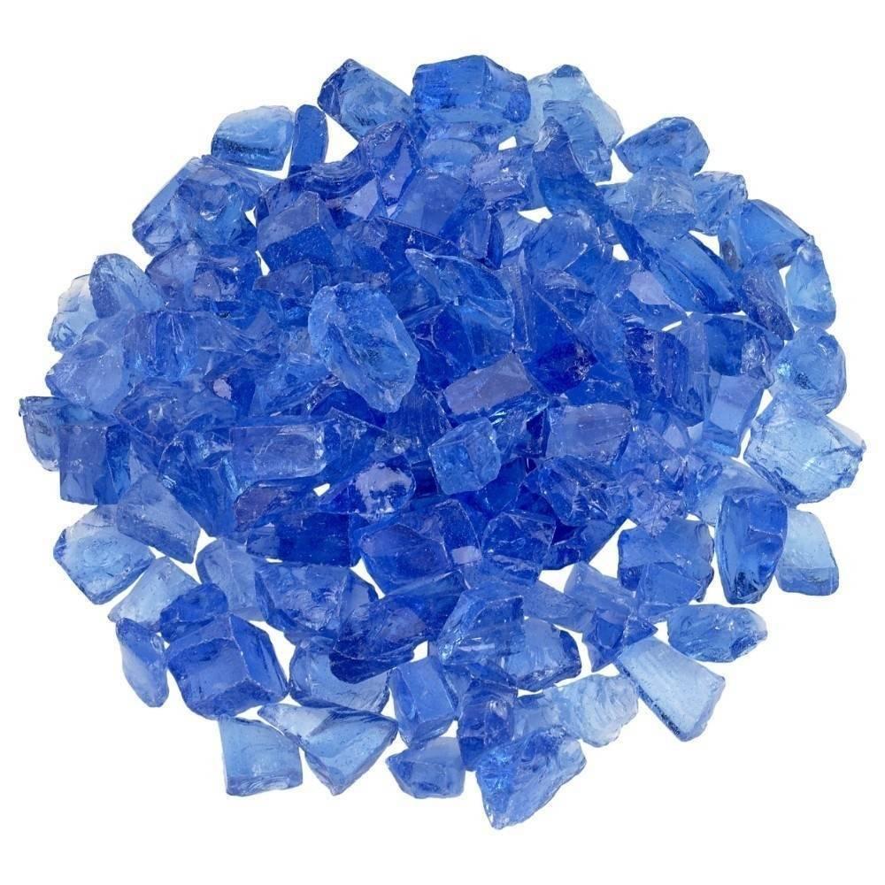 Light Blue Fire Pit Glass Top