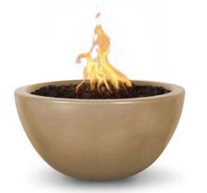 "30"" Luna Concrete Fire Bowl - Brown"