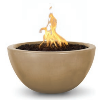 "38"" Luna Concrete Fire Bowl - Brown"