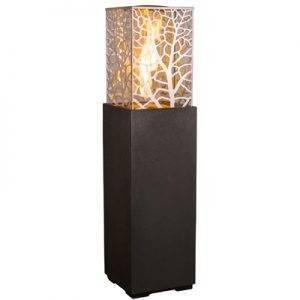 Magnolia Lantern Fire Column - Black Lava