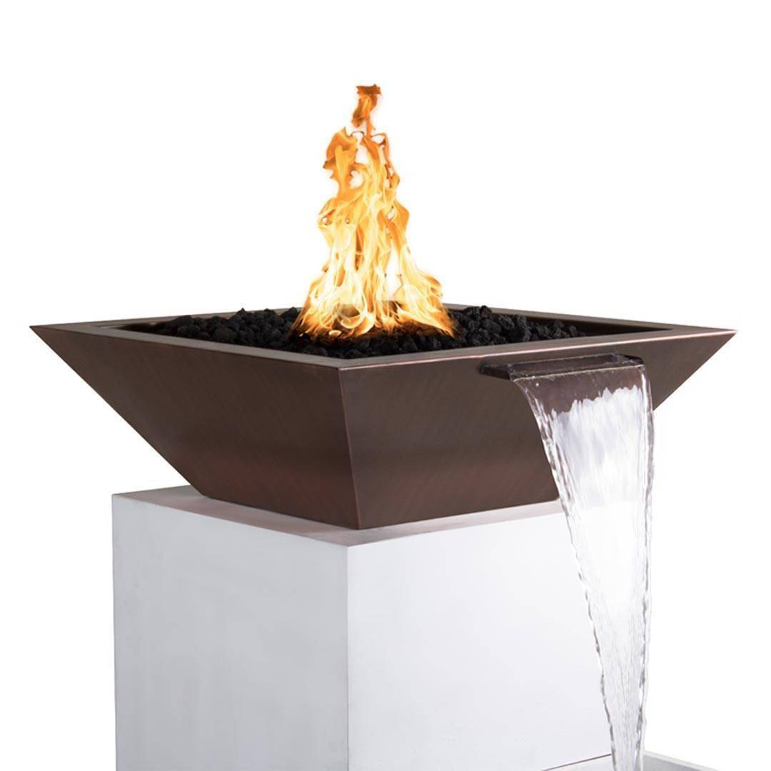 "30"" x 30"" MAya Copper Pool Fire Bowl"