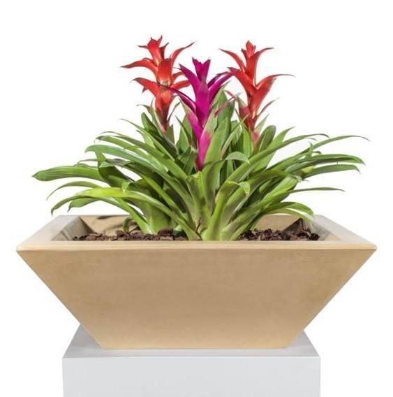 """30"""" x 30"""" Maya Planter Bowl - Brown"""