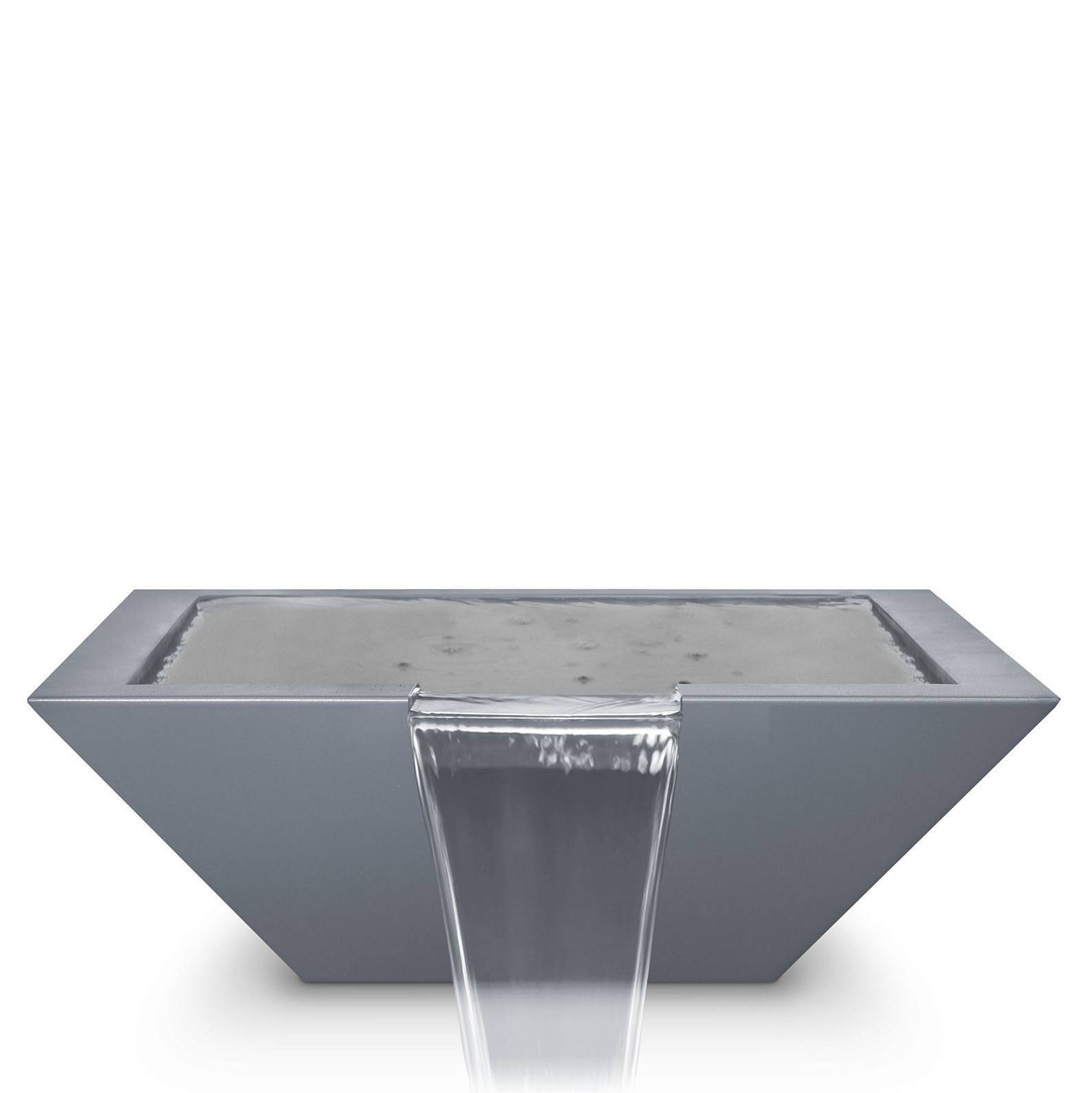"36"" Maya Pool Water Bowl - Powder Coated Grey"