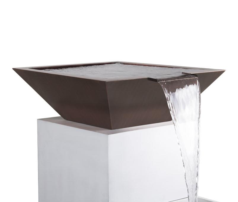 """24"""" Maya Copper Pool Water Bowl"""