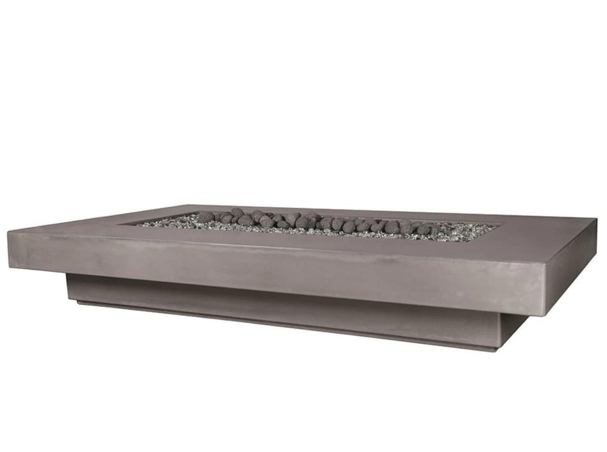"""84"""" Midway Concrete Fire Table - Rain Cloud"""