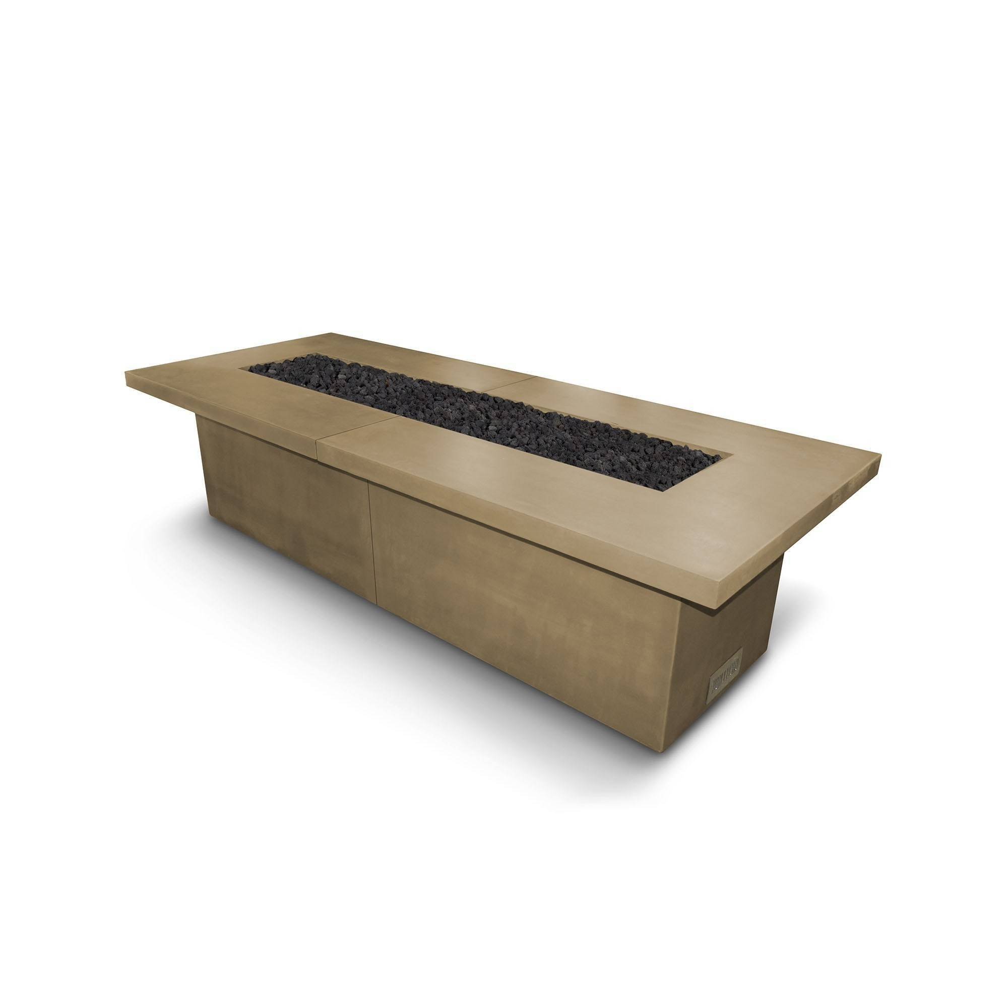 "144"" Newport Concrete Fire Pit Table - Brown"