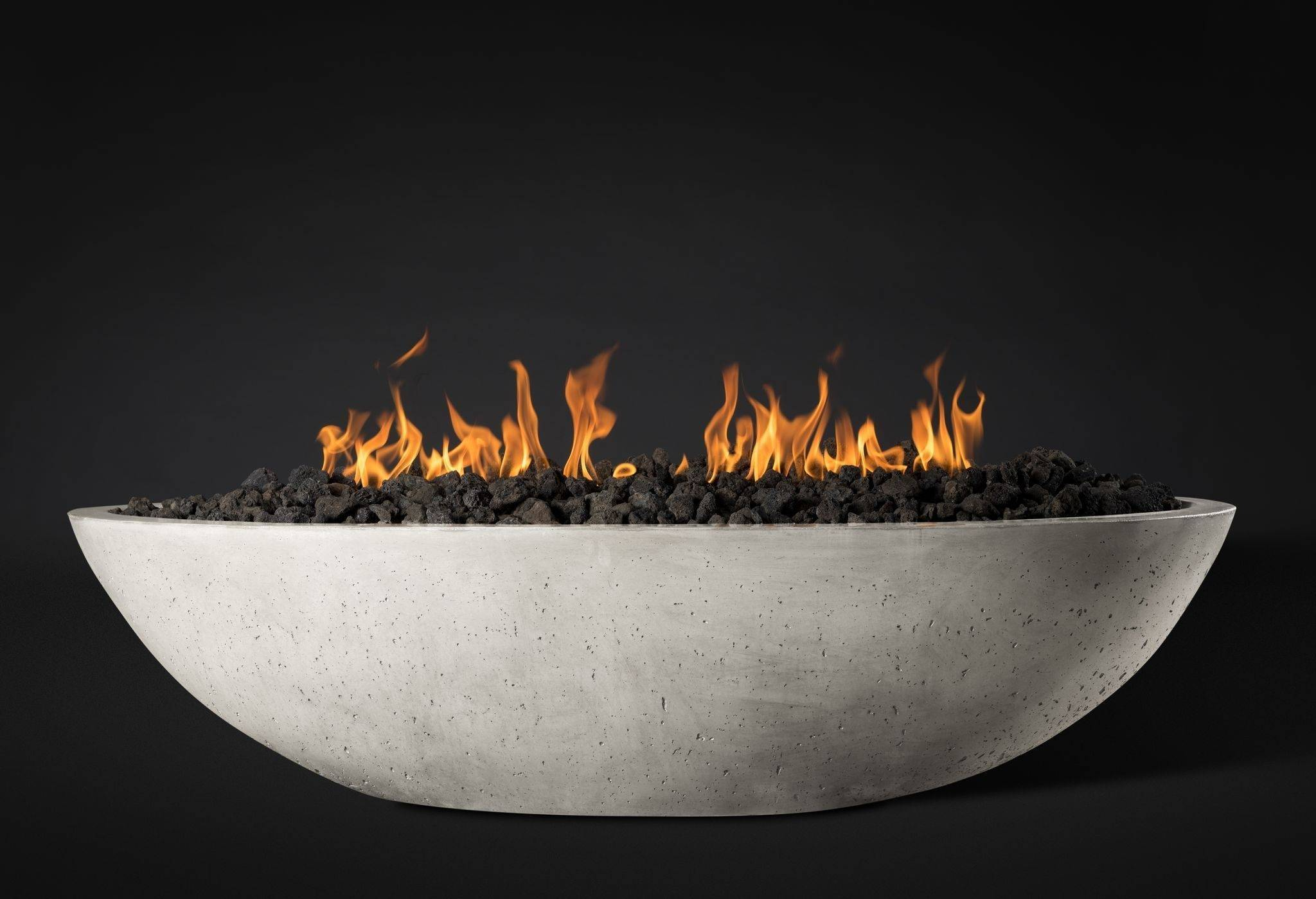 "Slick Rock Concrete 60"" Oasis Oval Fire Bowl - Great White"