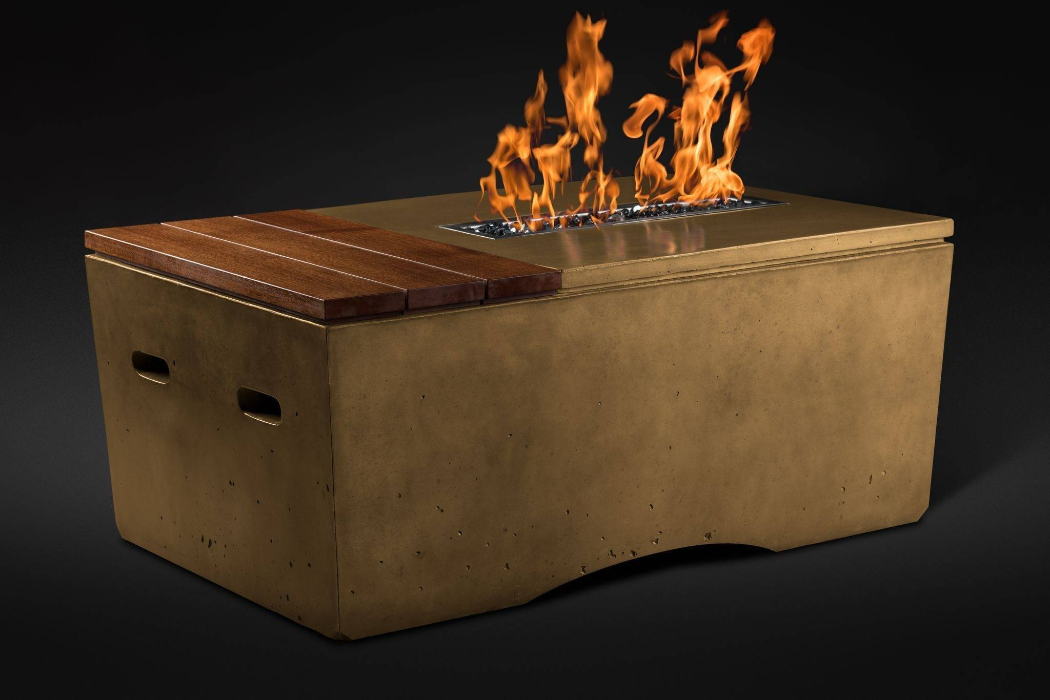 Oasis Fire Table Close Up - Umber