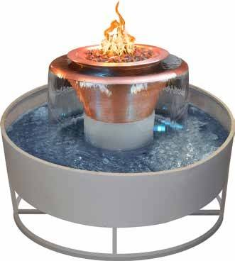 """36"""" Olympian 4-Way Fire & Water Bowl - With 60"""" Self Contained Unit"""