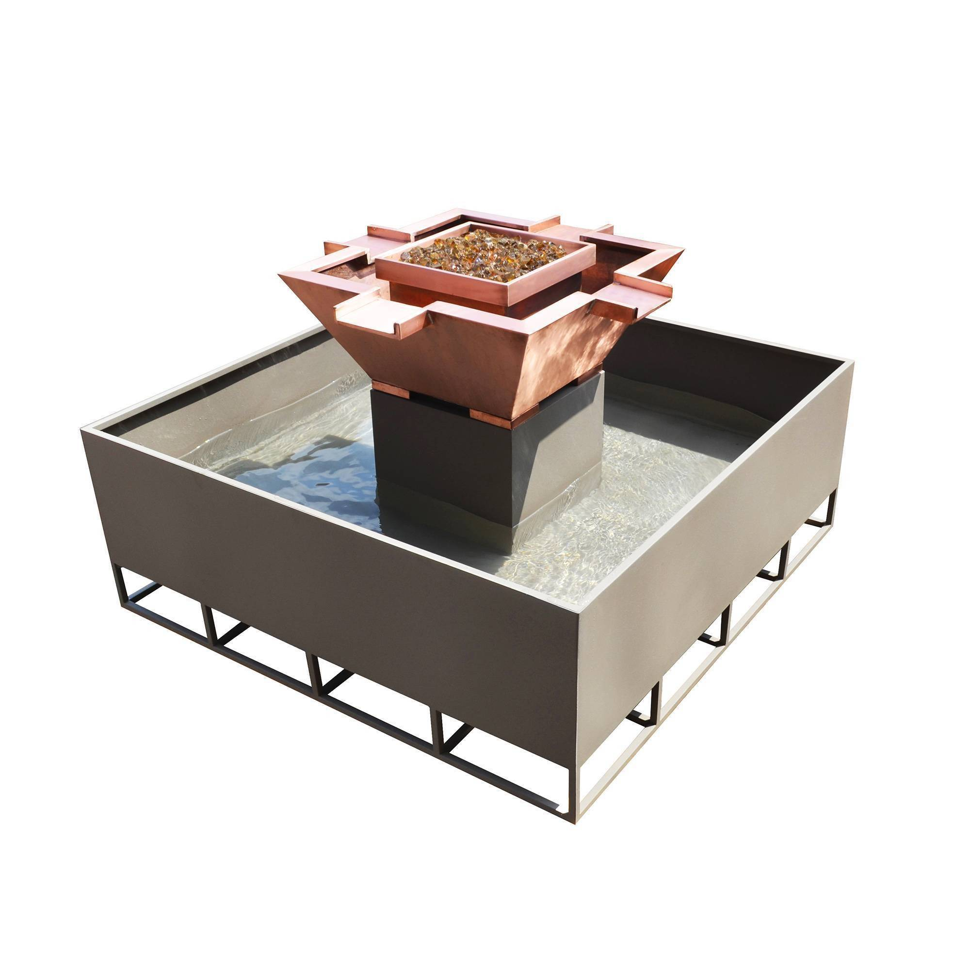 "30"" Olympian 4-Way Fire & Water Bowl - With 60"" Self Contained Unit"