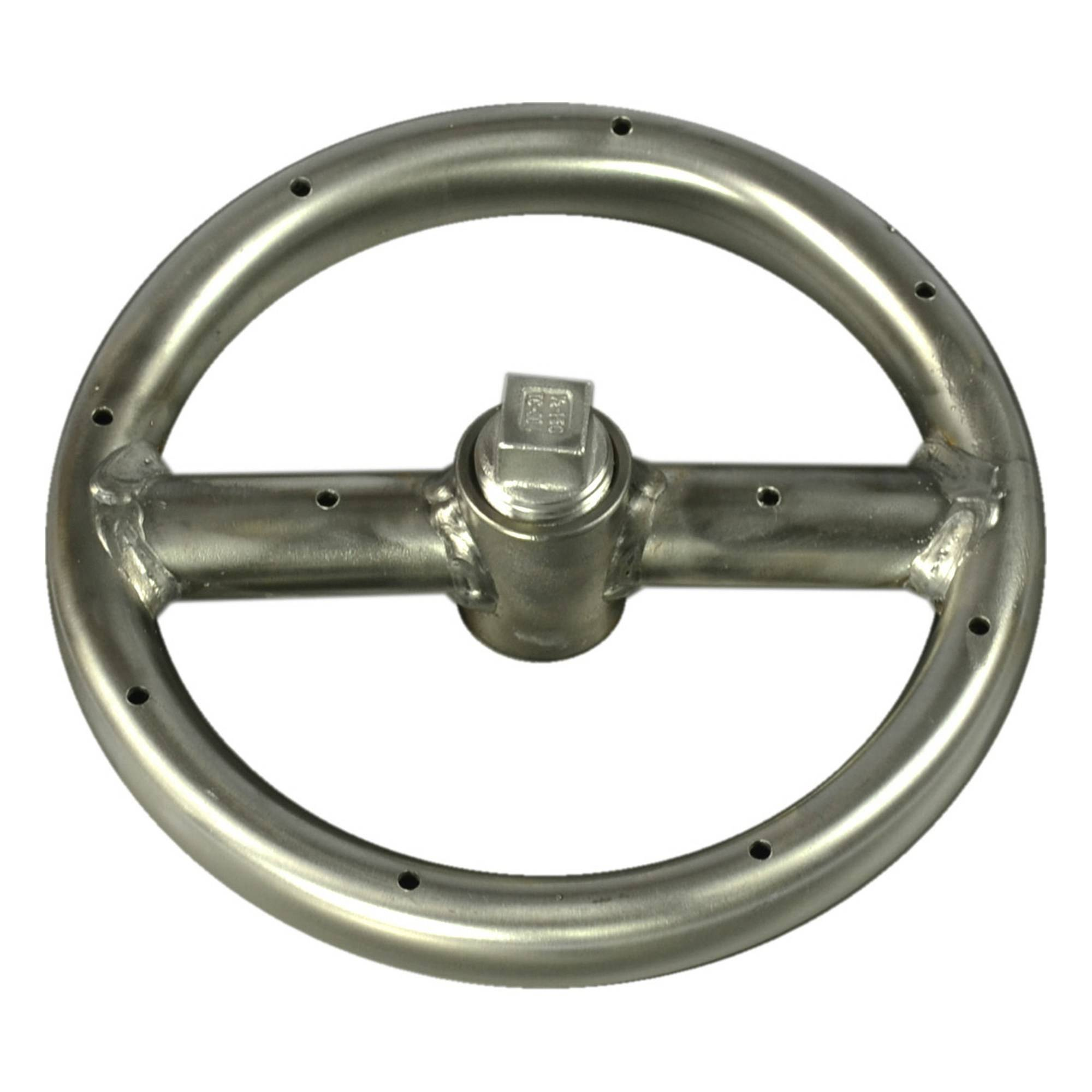 "12"" Stainless Steel Round Gas Fire Ring"