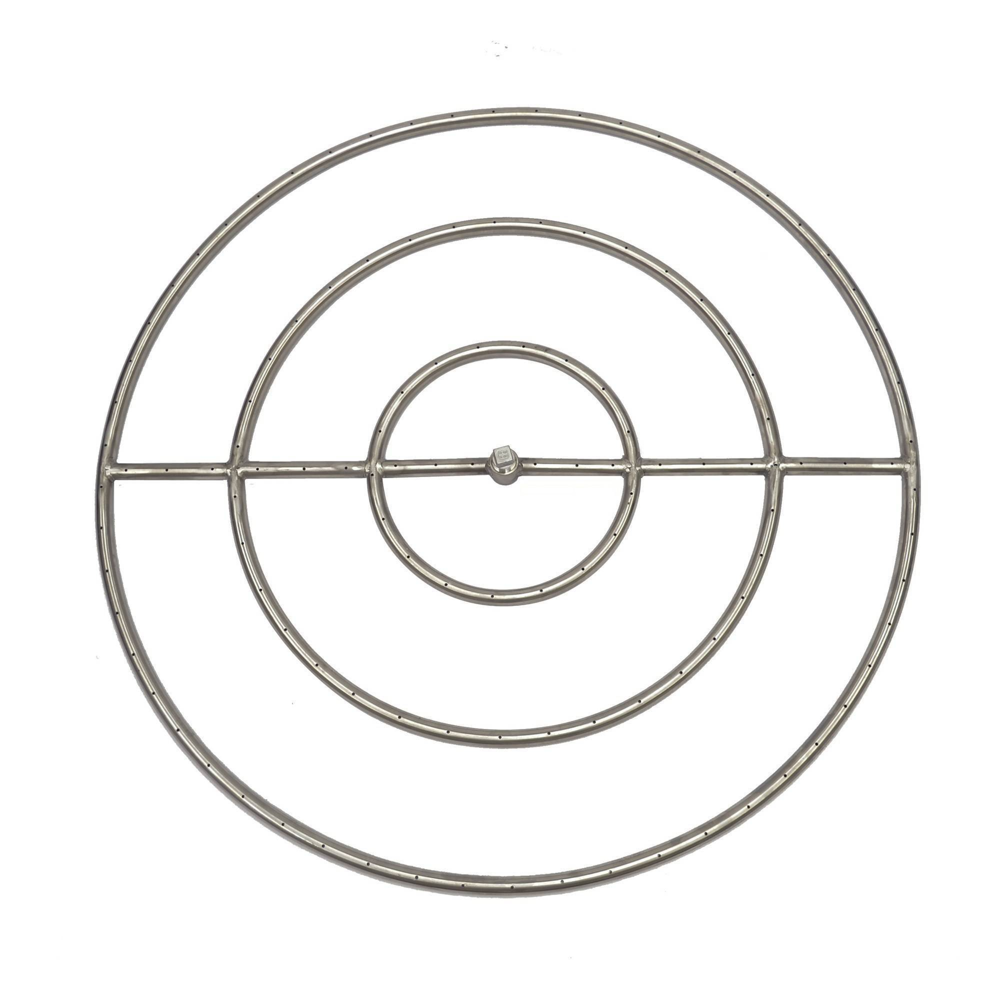 "30"" Stainless Steel Round Gas Fire Ring"