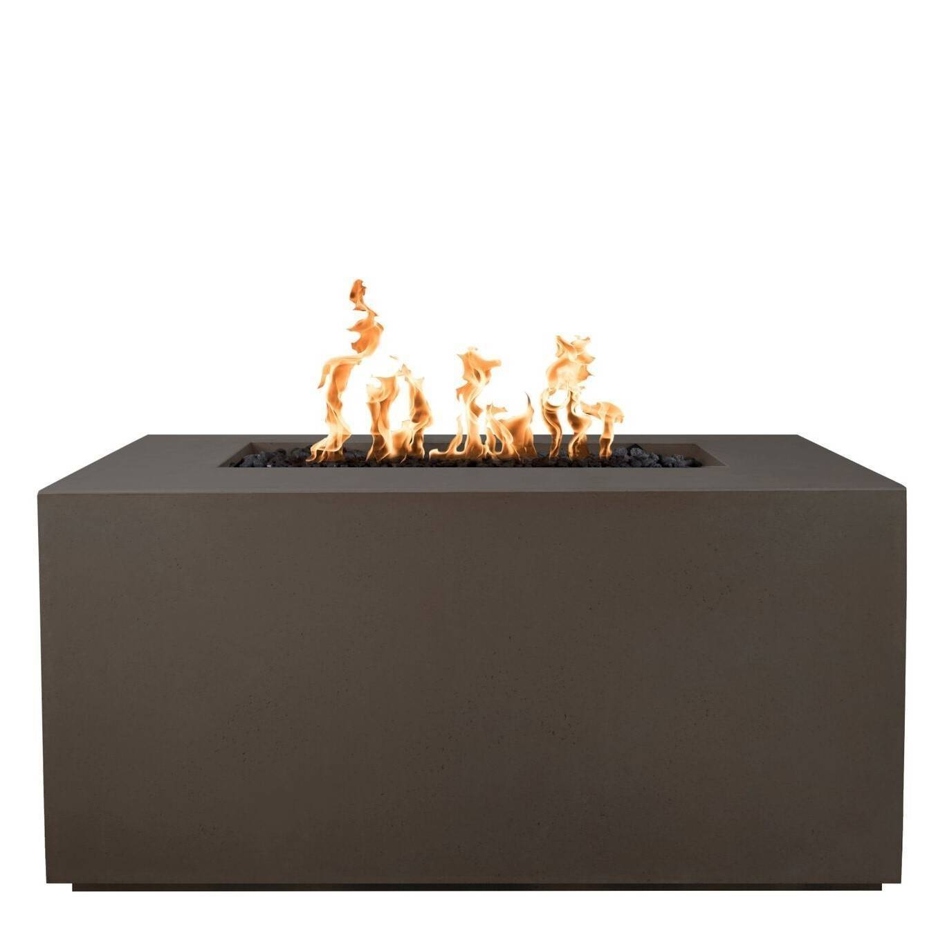 "60"" Pismo Concrete Fire Pit Table - Chocolate"