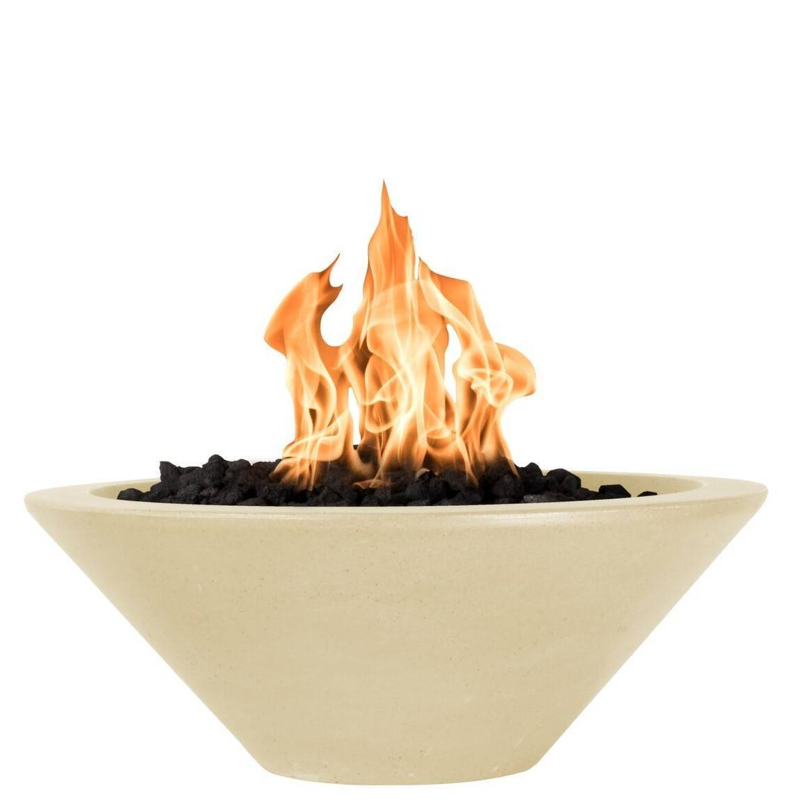 "36"" Cazo Concrete Gas Fire Bowl - Vanilla"