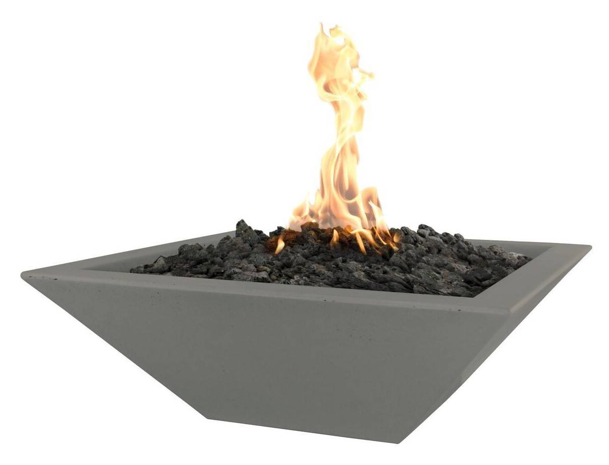 "30"" Maya Concrete Gas Fire Bowl Square"