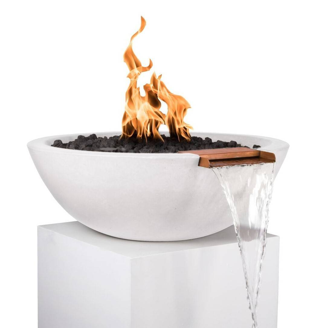 """33"""" Sedona Fire and Water Bowl - White"""