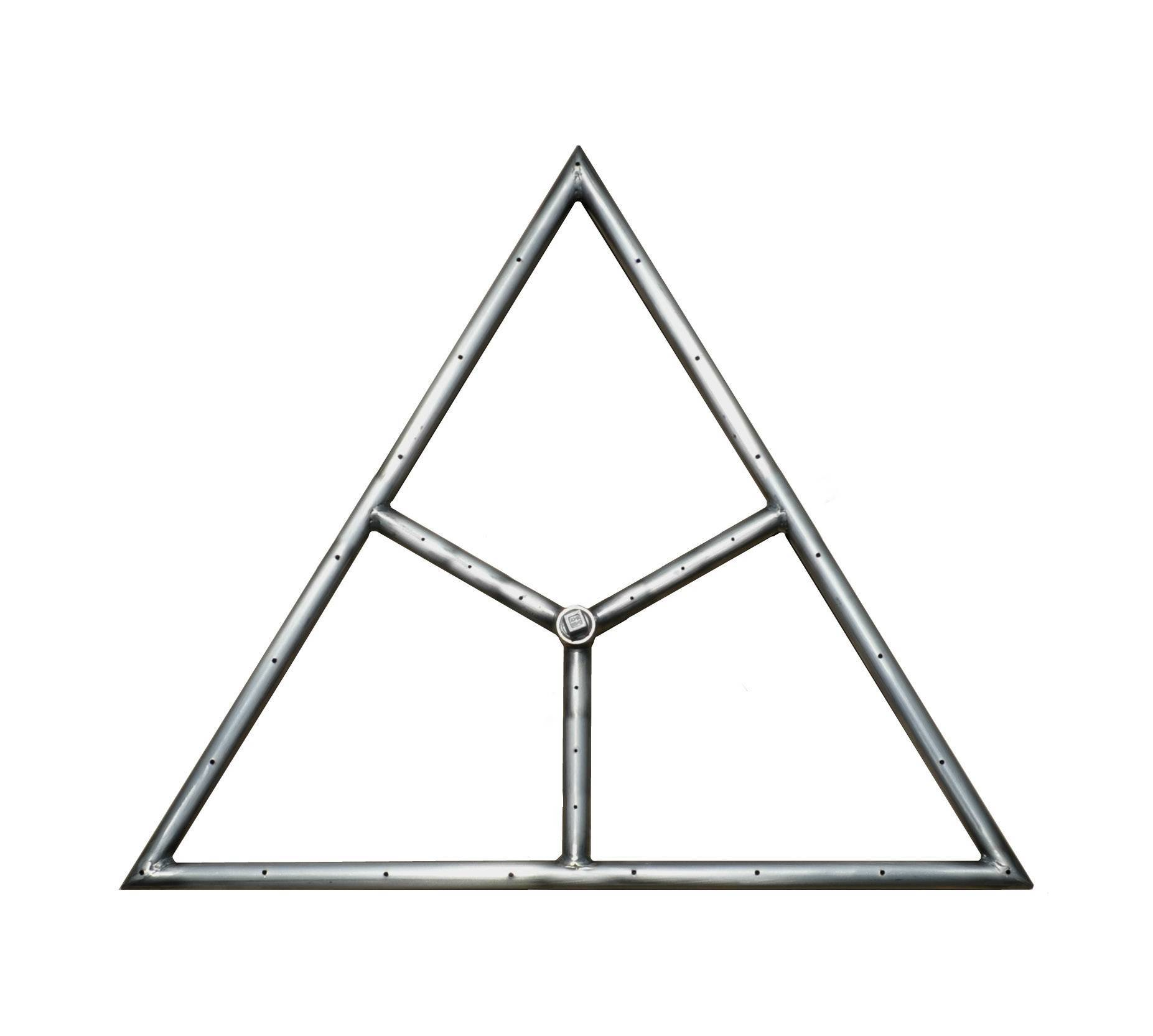 "12"" Triangle Gas Fire Ring"