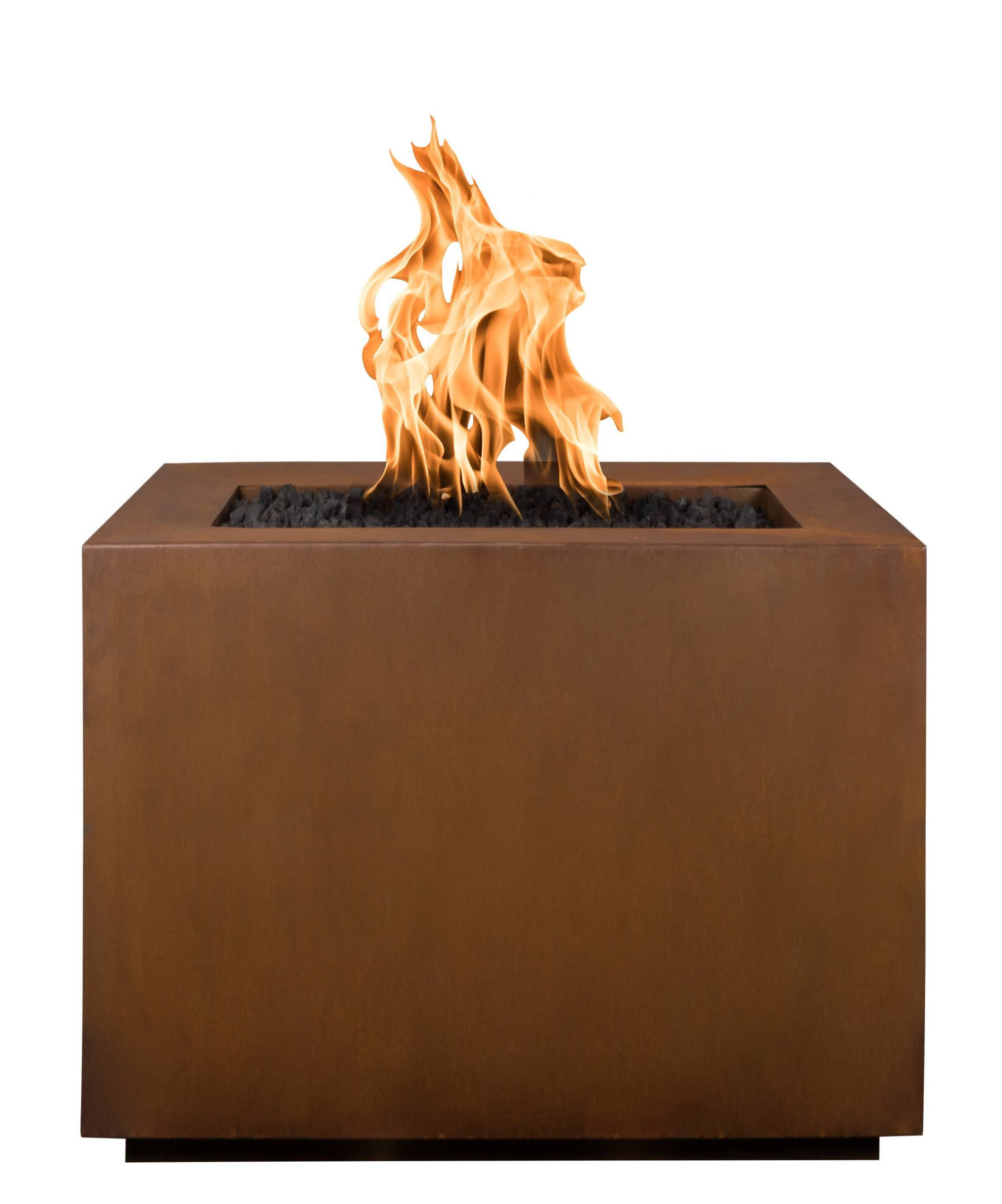 Steel Fire Pit Table - Times Square Corten | Starting at $2,275