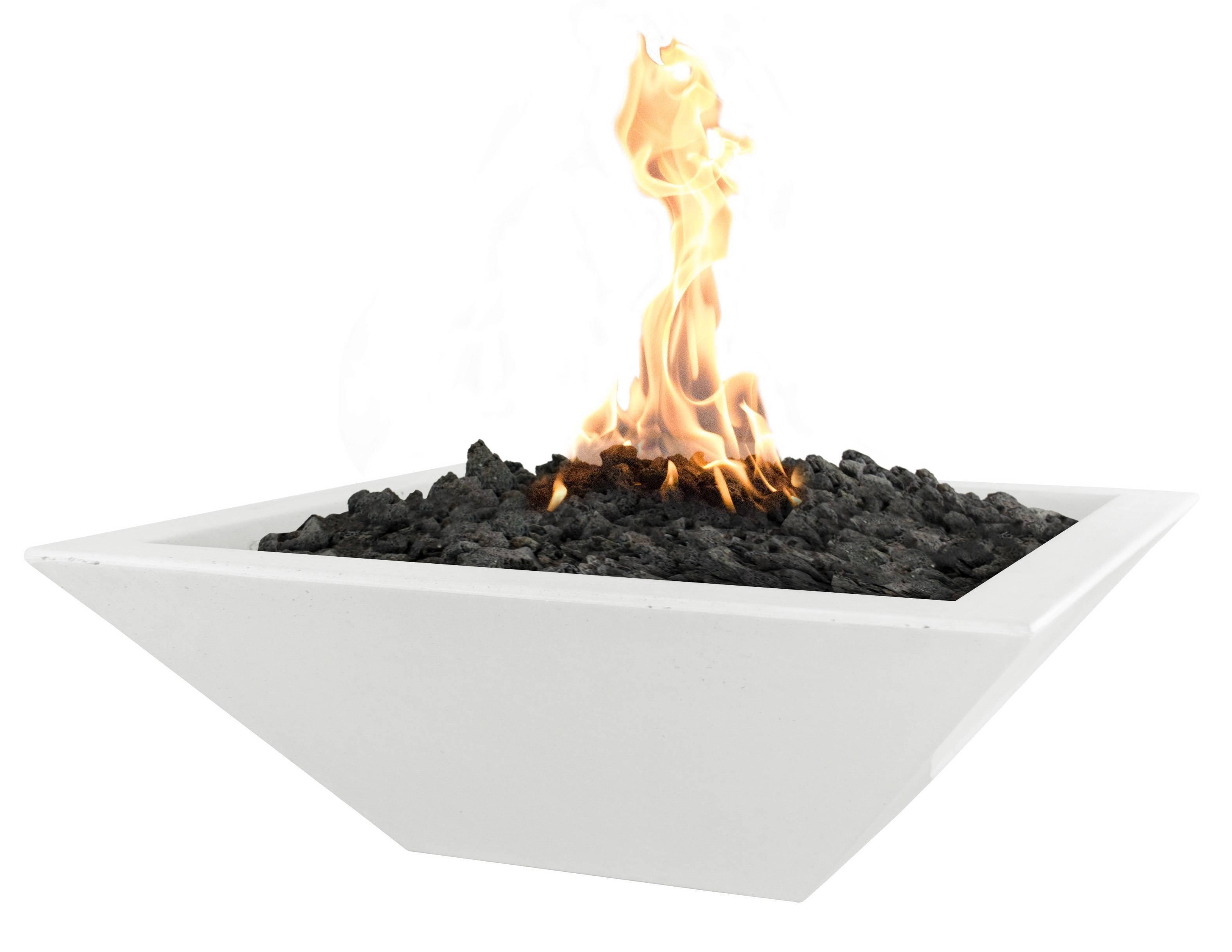 """24"""" Maya Concrete Gas Fire Bowl - Limestone"""