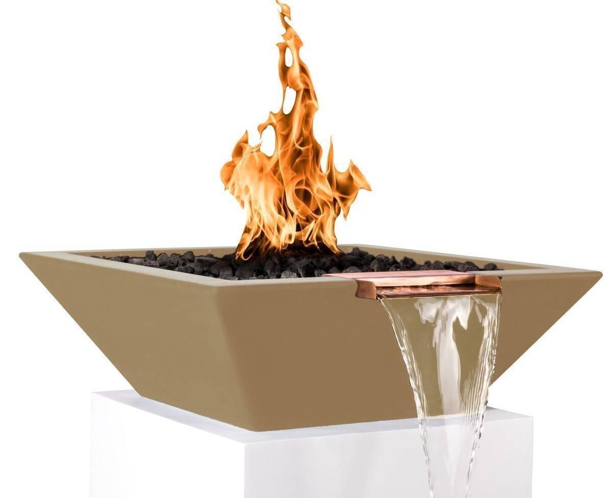 "36"" Maya Pool Fire and Water Bowl - Brown"