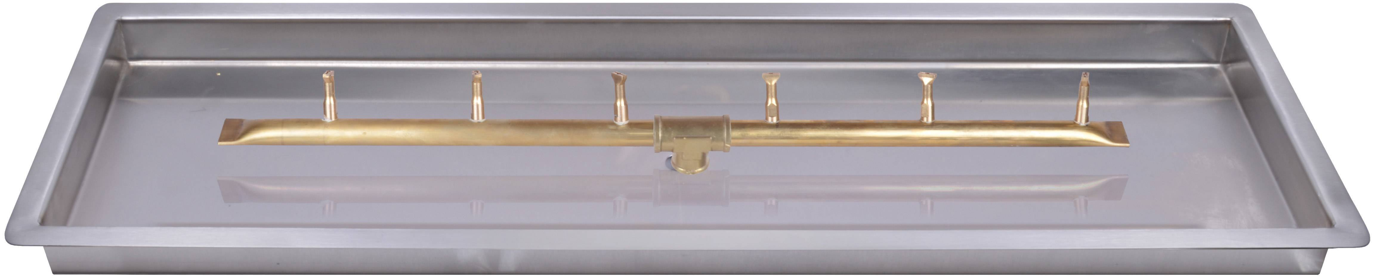 "Linear Drop In Pan w/ Linear Bullet Burner - (24"" - 84"")"
