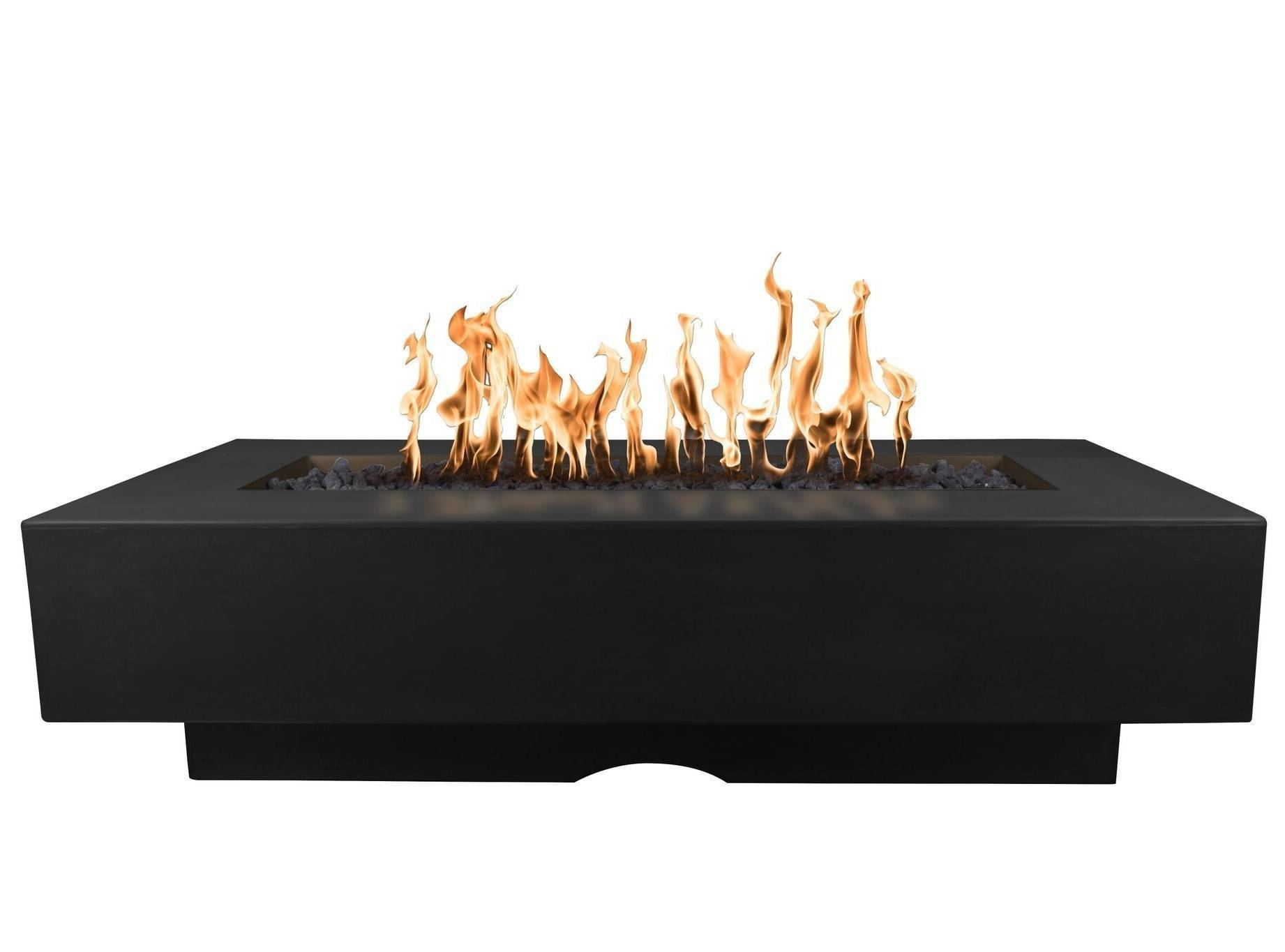 "72"" Del Mar Fire Pit Table - Black"