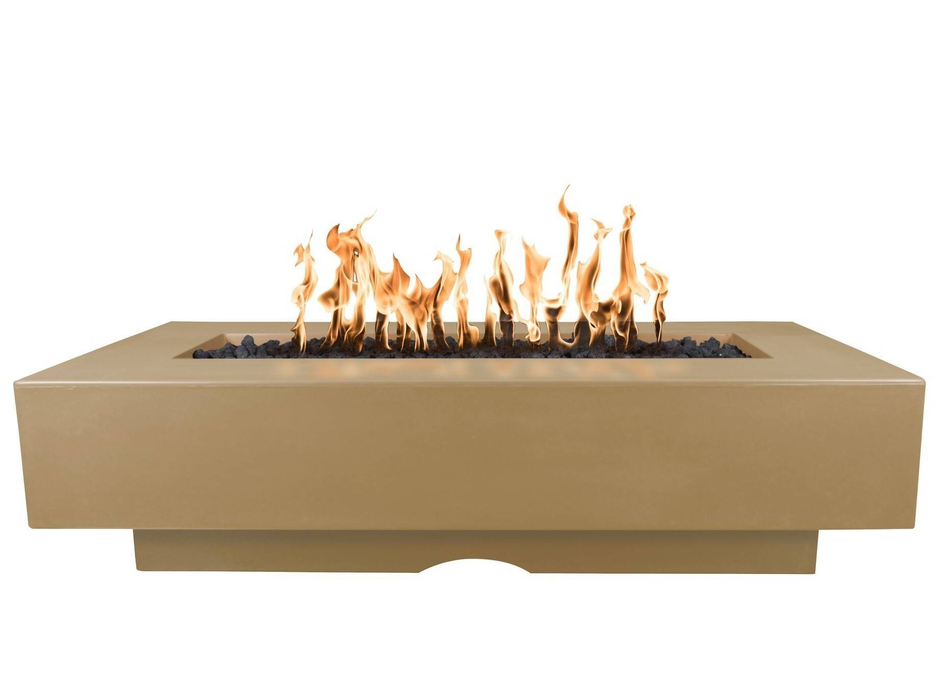 """96"""" Del Mar Fire Pit Table - Brown"""