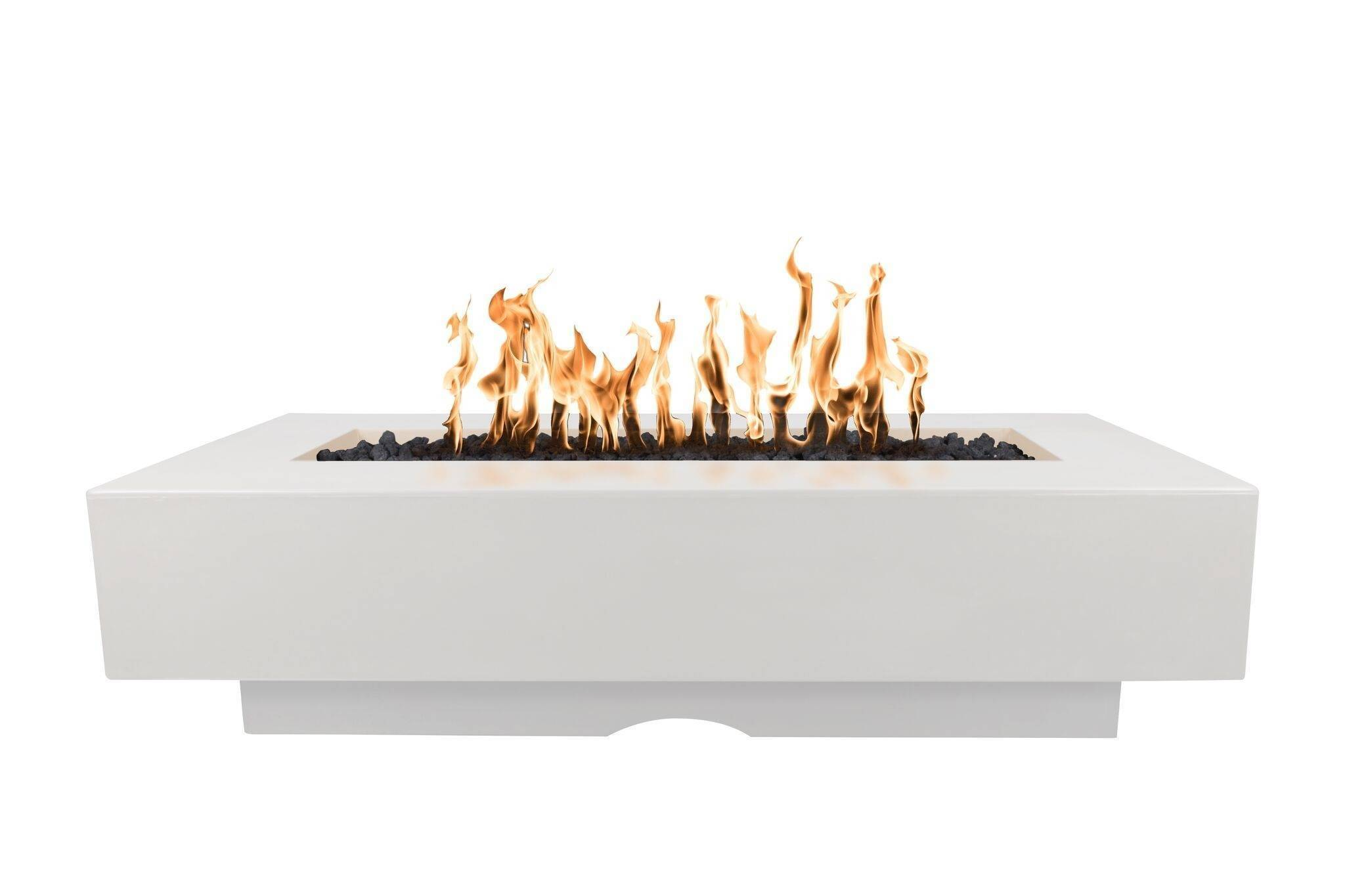 """48"""" Del Mar Fire Pit Table - Limestone/White"""