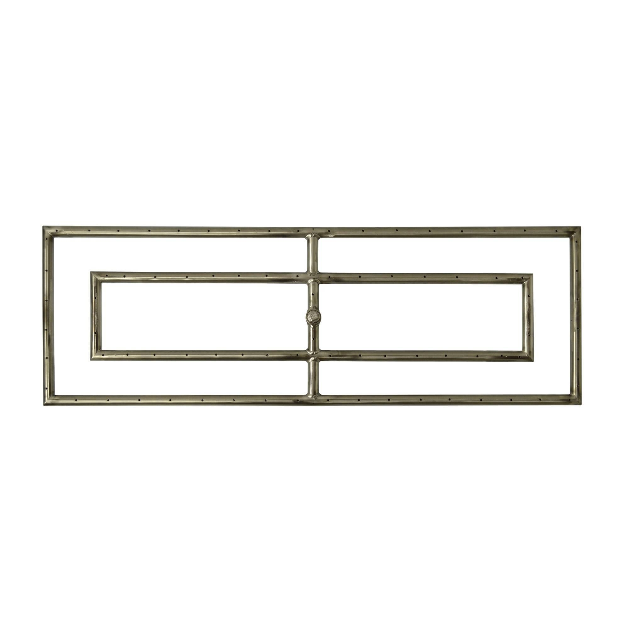 Double Rectangle Fire Pit Burner