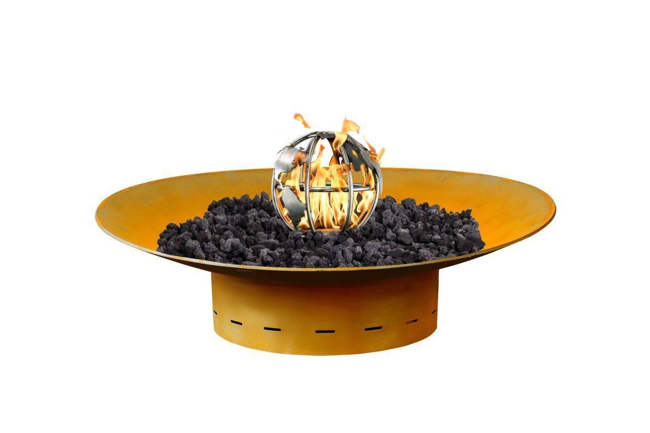 "Mild Steel Fire Bowl - 36"" (Match Lit)"