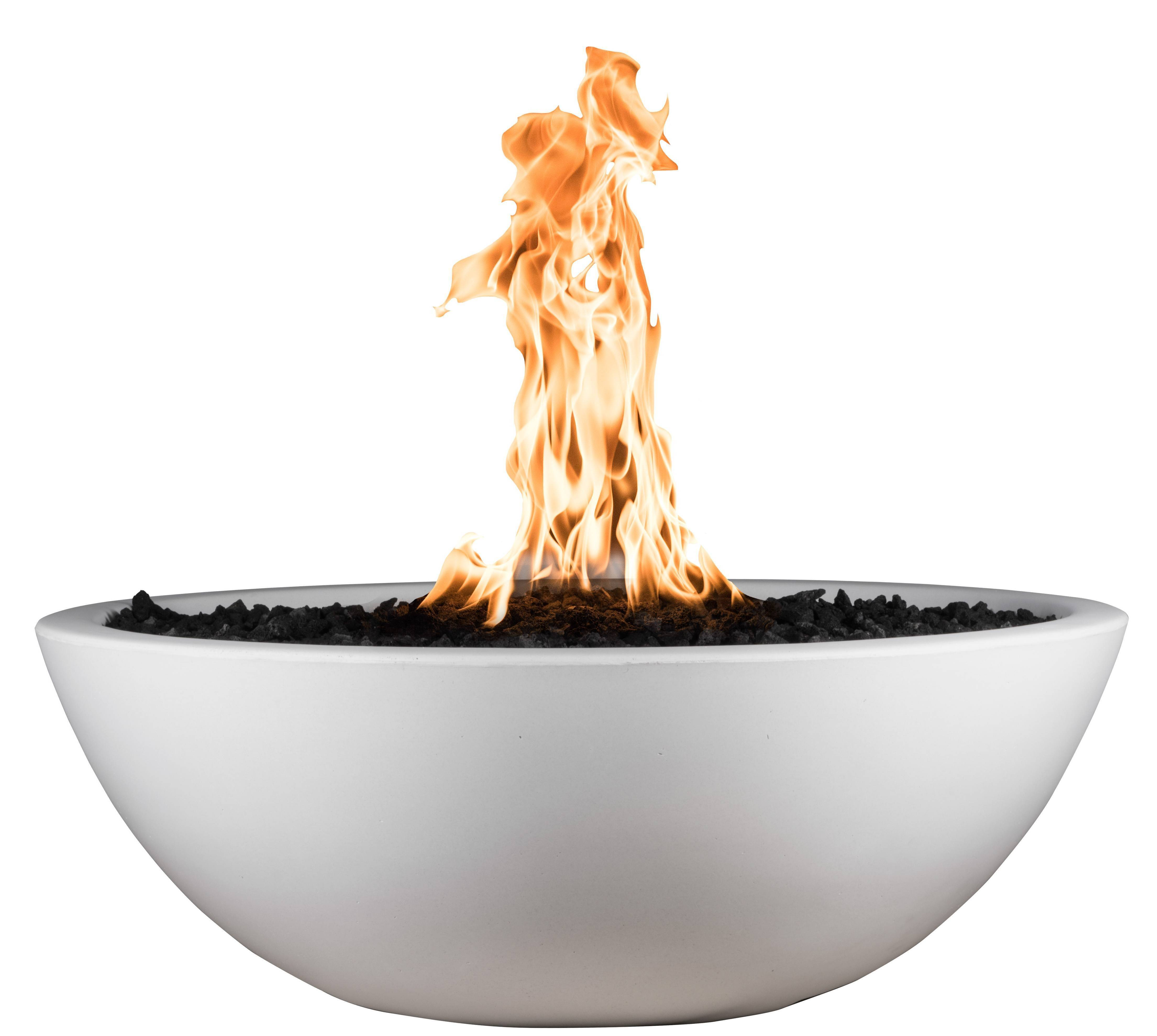 "48"" Sedona Concrete Gas Fire Bowl - Limestone"