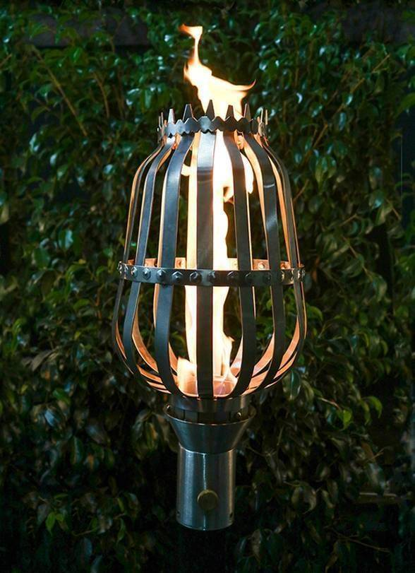 Cage Top Torch - Gas Tiki Torch