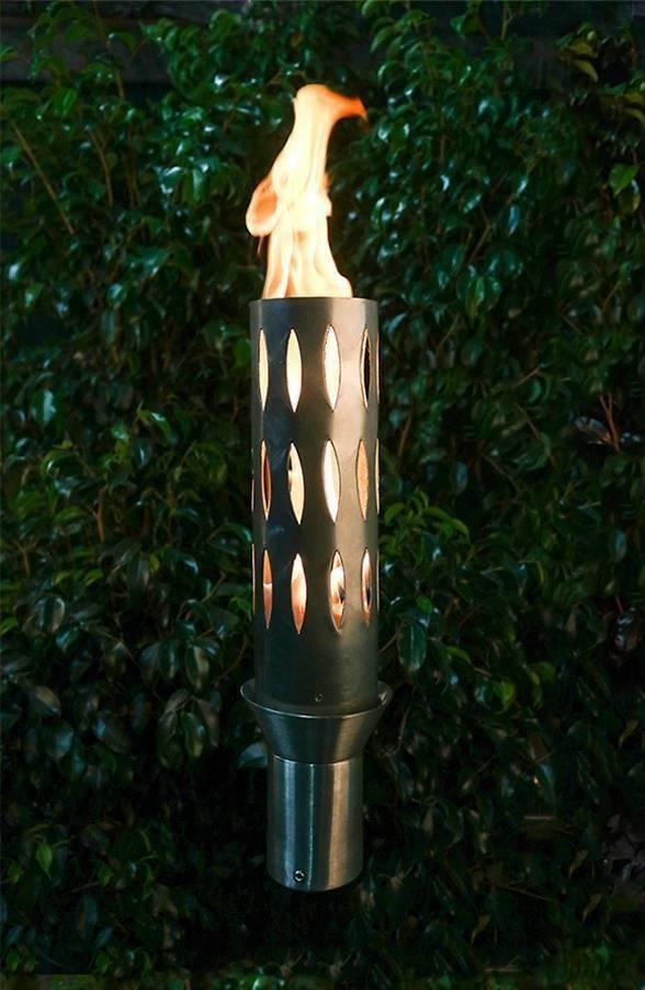 Elliptacal Top Torch - Gas Tiki Torch