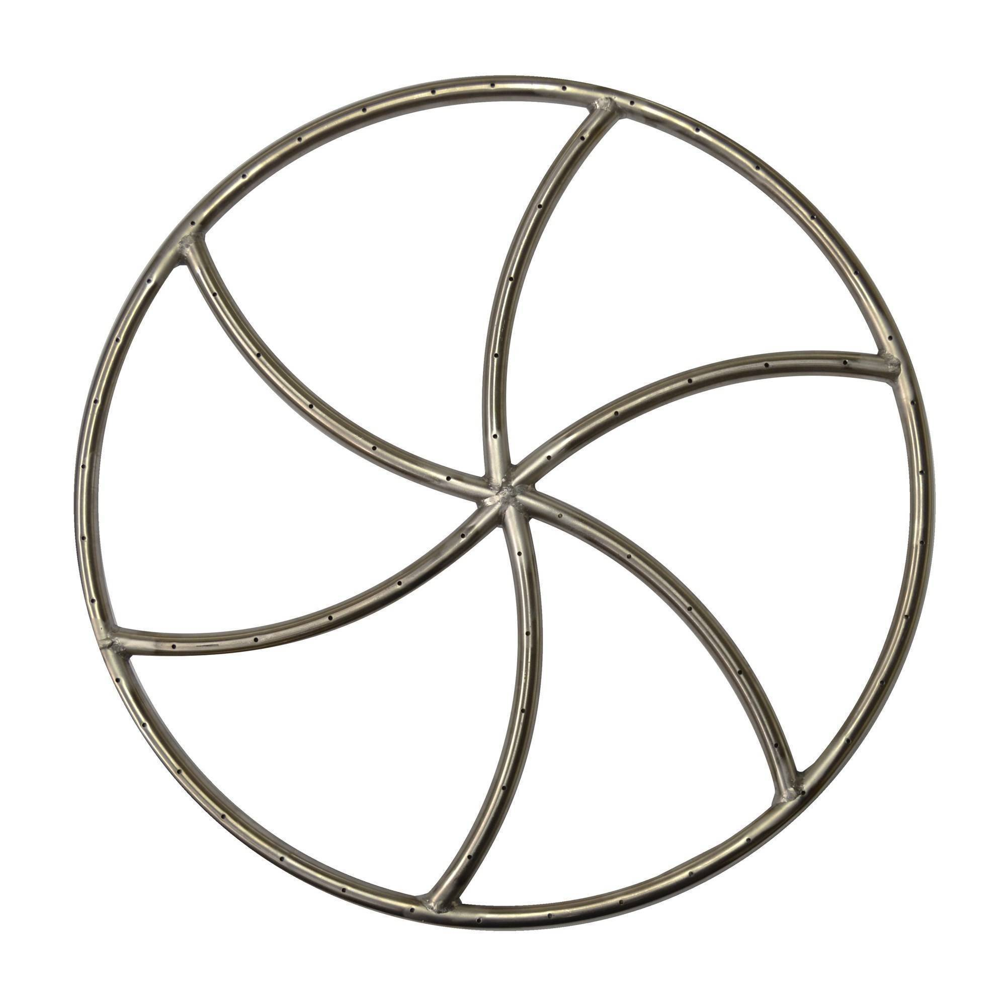 "36"" Triple 'S' Wheel Fire Pit Burner"