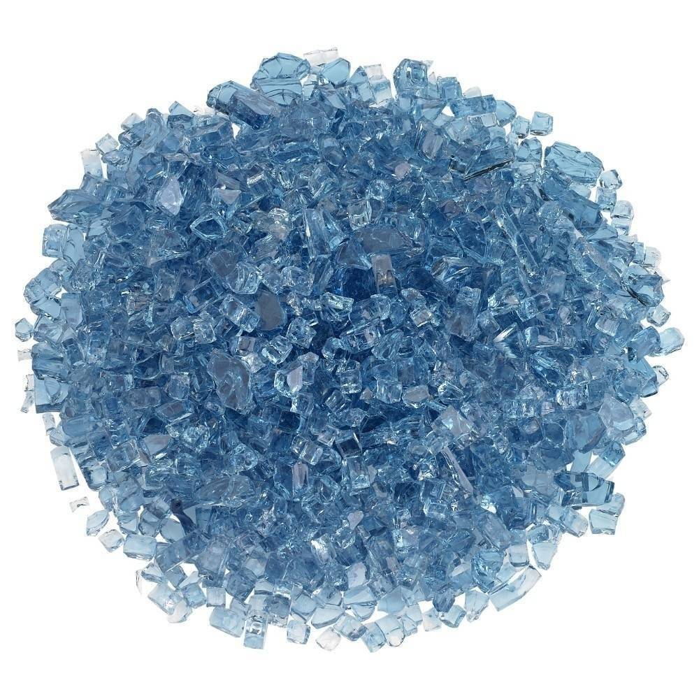 "1/4"" Pacific Blue Fire Glass"