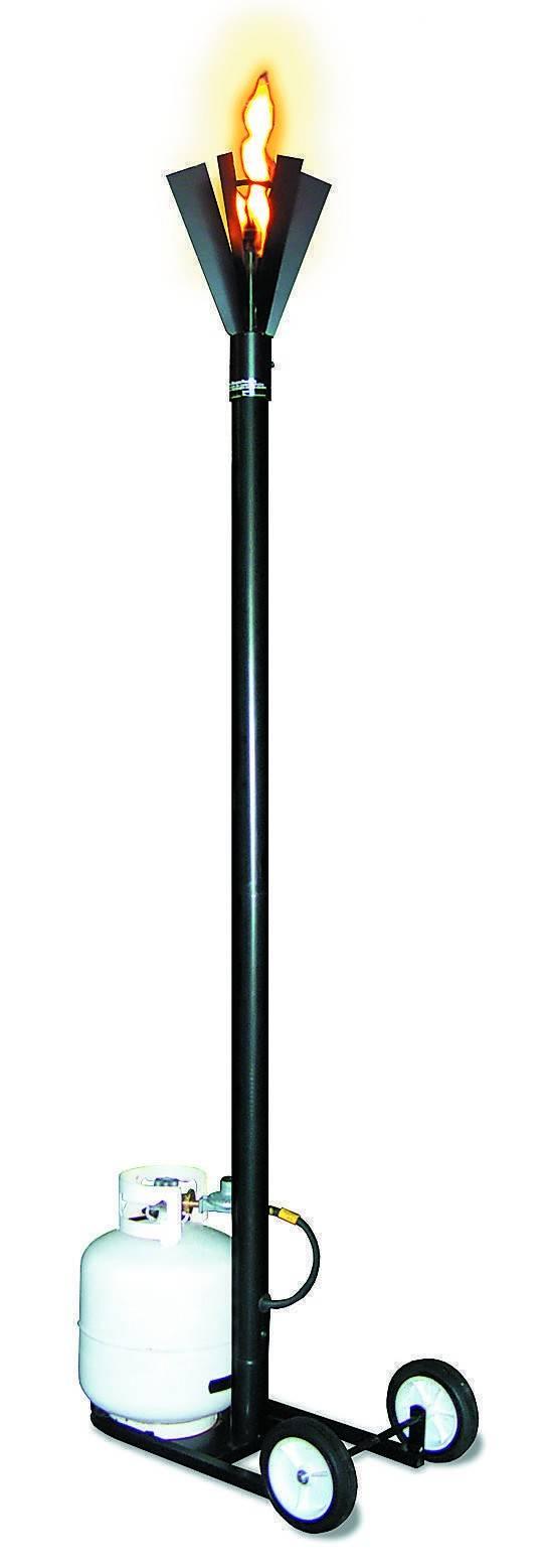 Portable FIn Style Gas Tiki Torch