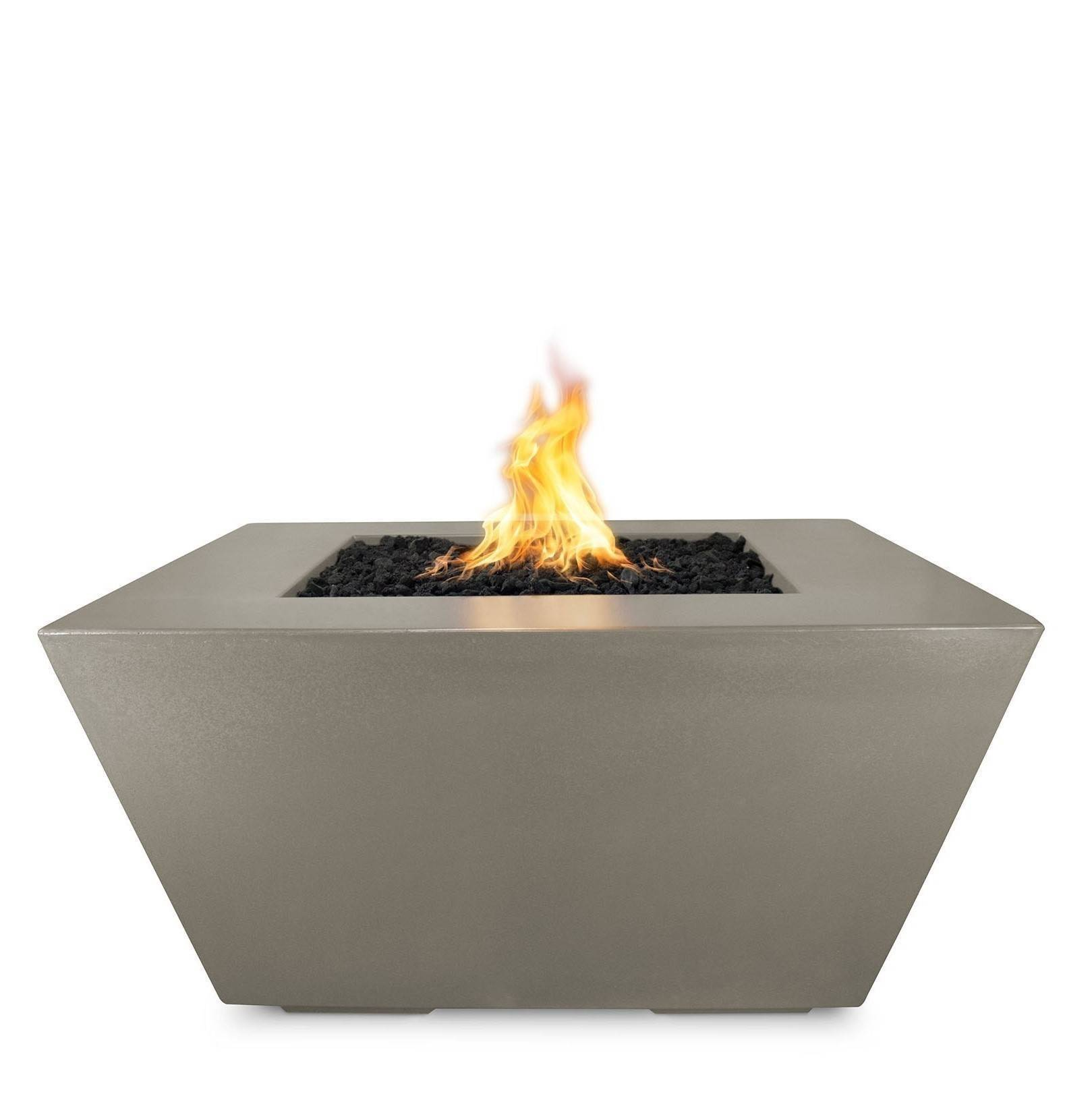 "50"" Redan Square Fire Pit Table - Ash"
