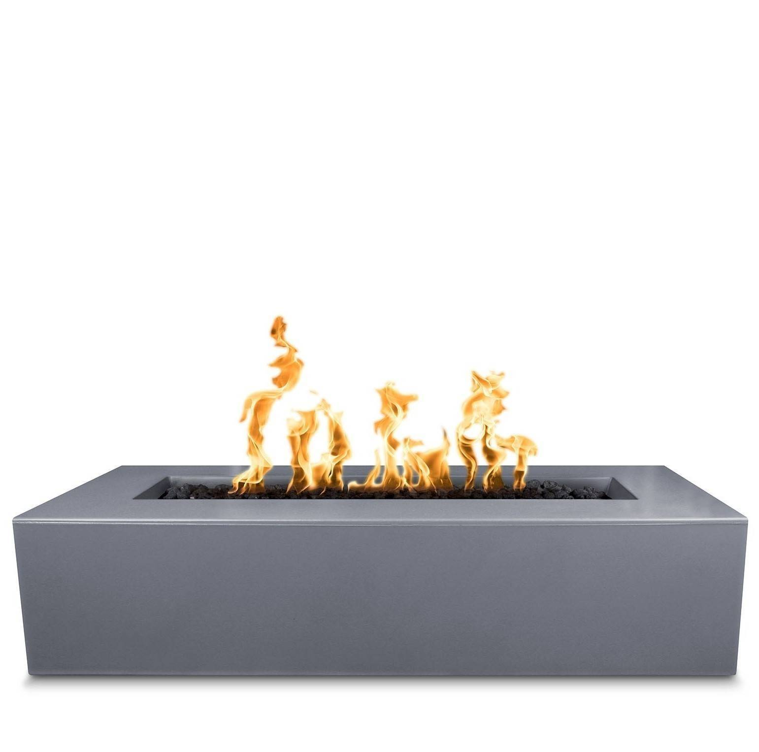 "54"" Regal Rectangular Fire Pit Table - Grey"