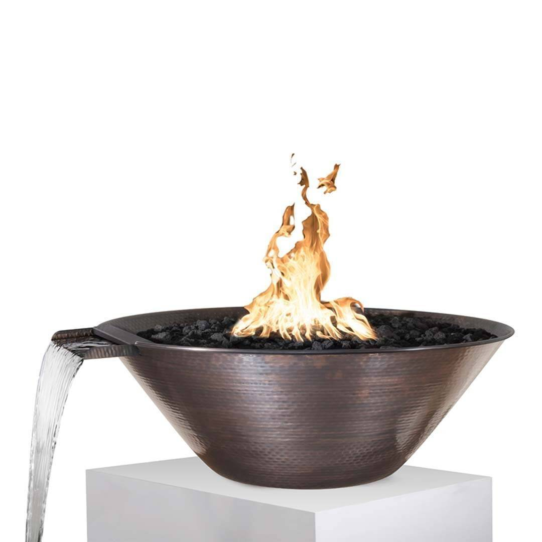 "31"" Remi Copper Pool Fire & Water Bowl"