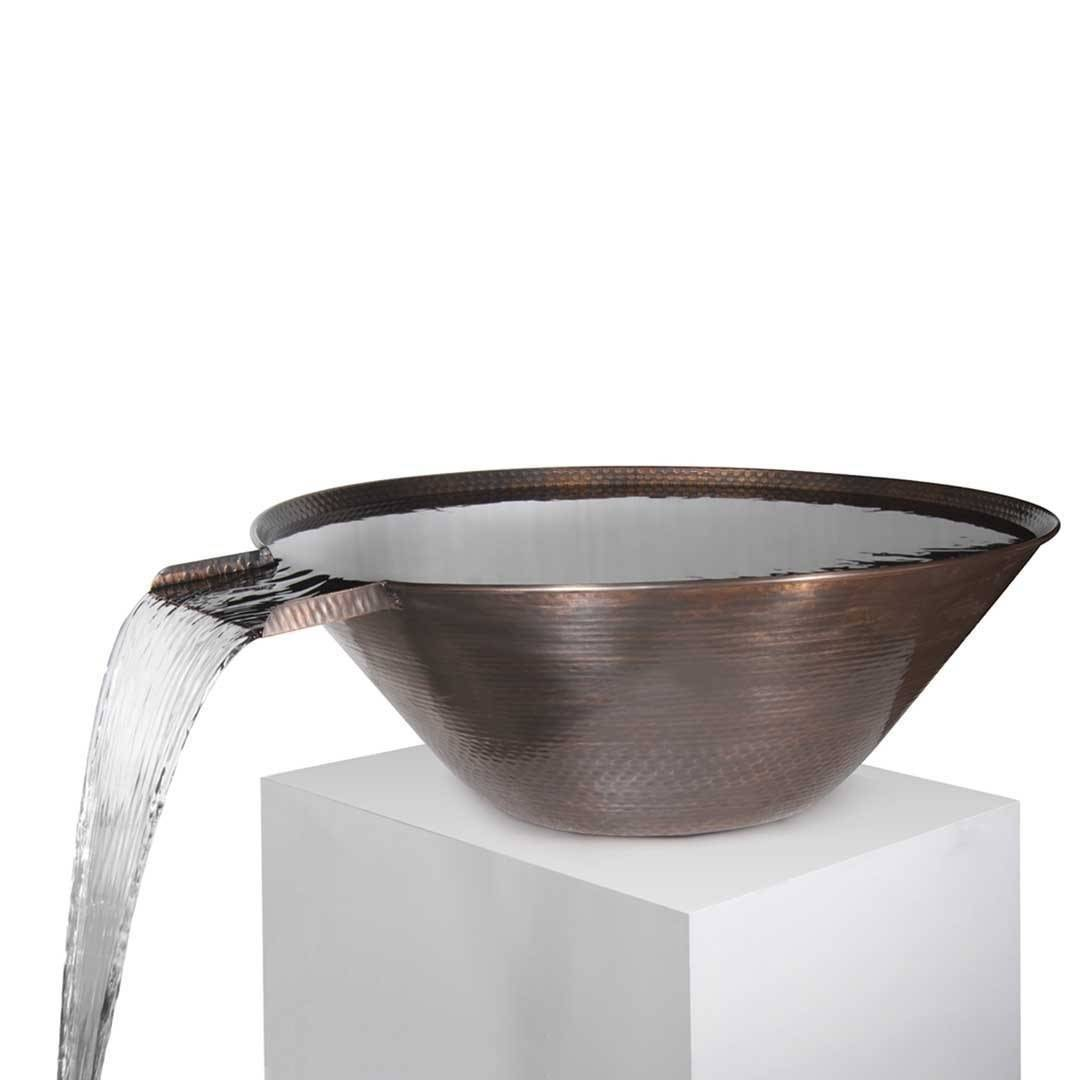 "31"" Remi Copper Pool Water Bowl - Hammered Copper"