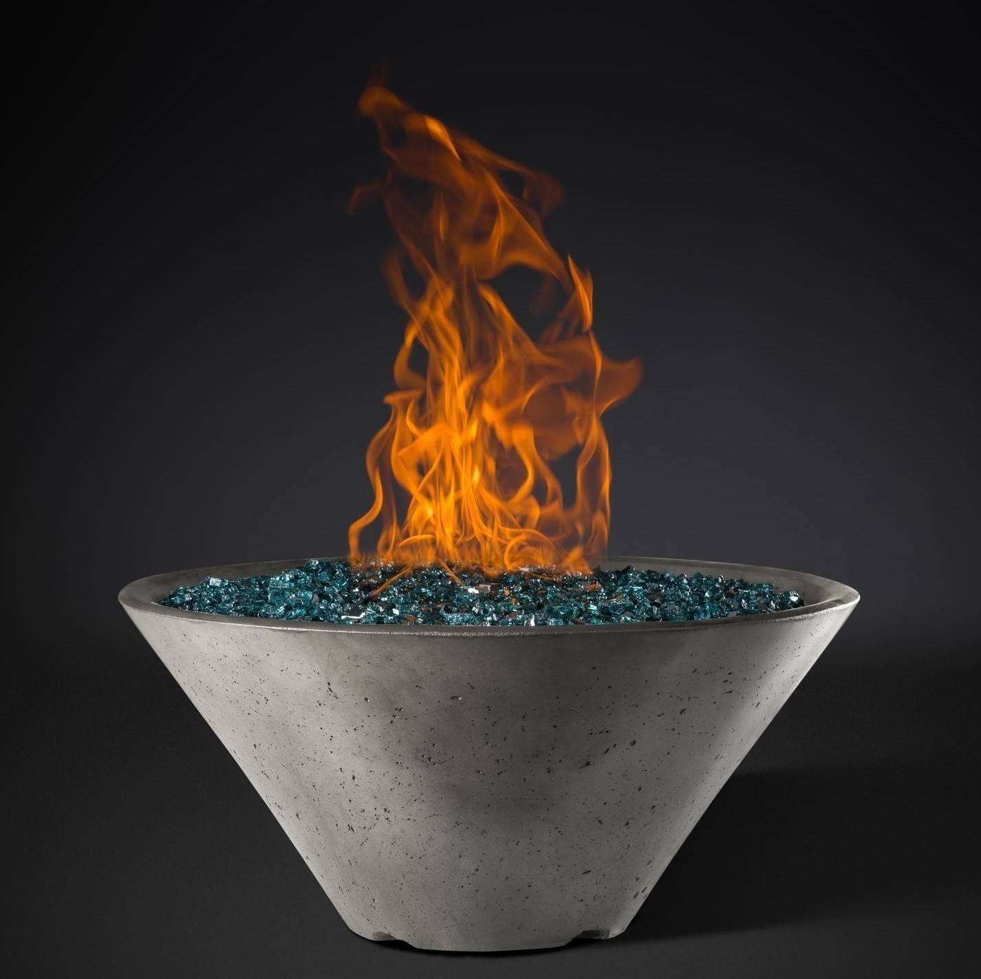 """Slick Rock Concrete 22"""" Conical Fire Bowl - Shale"""