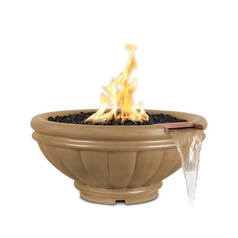 "ROMA 24"" Concrete Fire & Water Bowl"