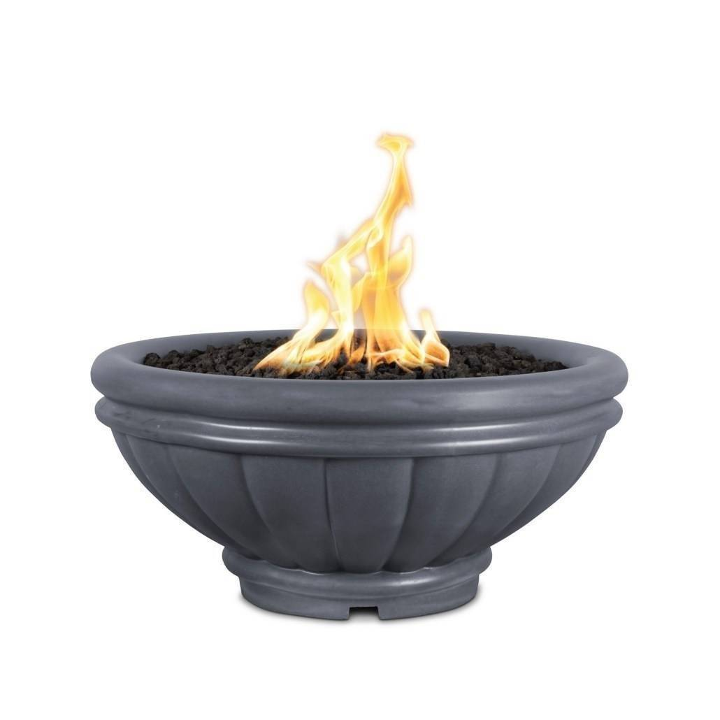"37"" Roma Concrete Fire and Water Bowl - Grey"
